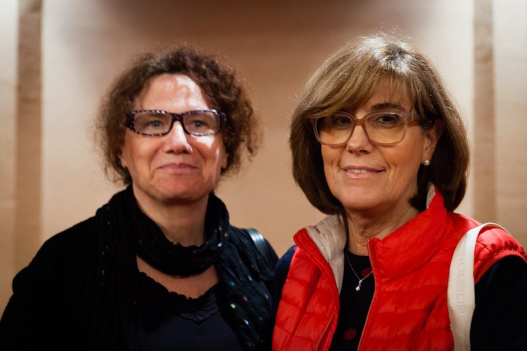 La presidente di AIMA Onlus Reggio Emilia Simonetta Cavalieri e la Vicepresidente Renata Azzali