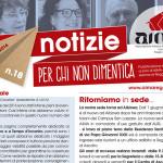 Notiziario AIMA Reggio Emilia n. 18 - primo semestre gennaio giugno 2016