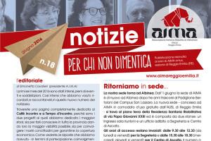 Notiziario n. 18 AIMA Onlus Reggio Emilia giugno 2016