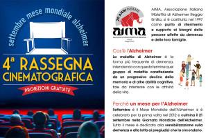 rassegna cinematografica sull'Alzheimer Aima Reggio Emilia - rassegna alzheimer settembre 2017
