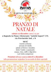 pranzo di Natale 2017 AIMA Associazione Malattia di Alzheimer Onlus Reggio Emilia