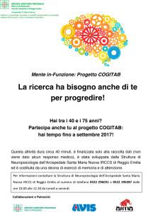locandina del progetto test COGITAB: ricerca sulla demenza