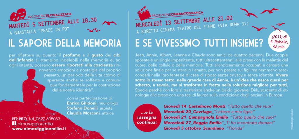 Cartolina serata informativa a Guastalla e Boretto AIMA Onlus Reggio Emilia 2017
