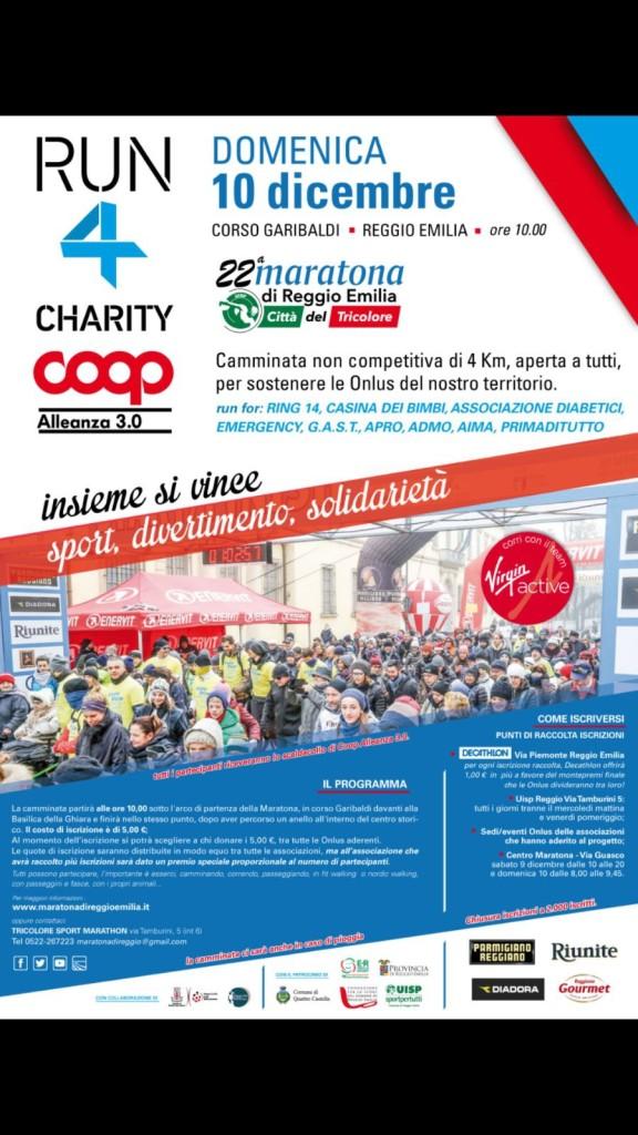 locandina coop run 4 charity