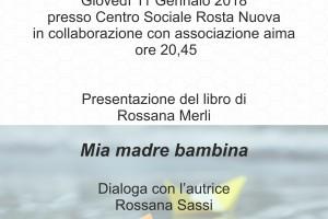 """Presentazione del libro di Rossana Merli """"Mia madre bambina"""""""
