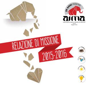 Copertina della relazione di missione associazione alzheimer reggio emilia AIMA Onlus