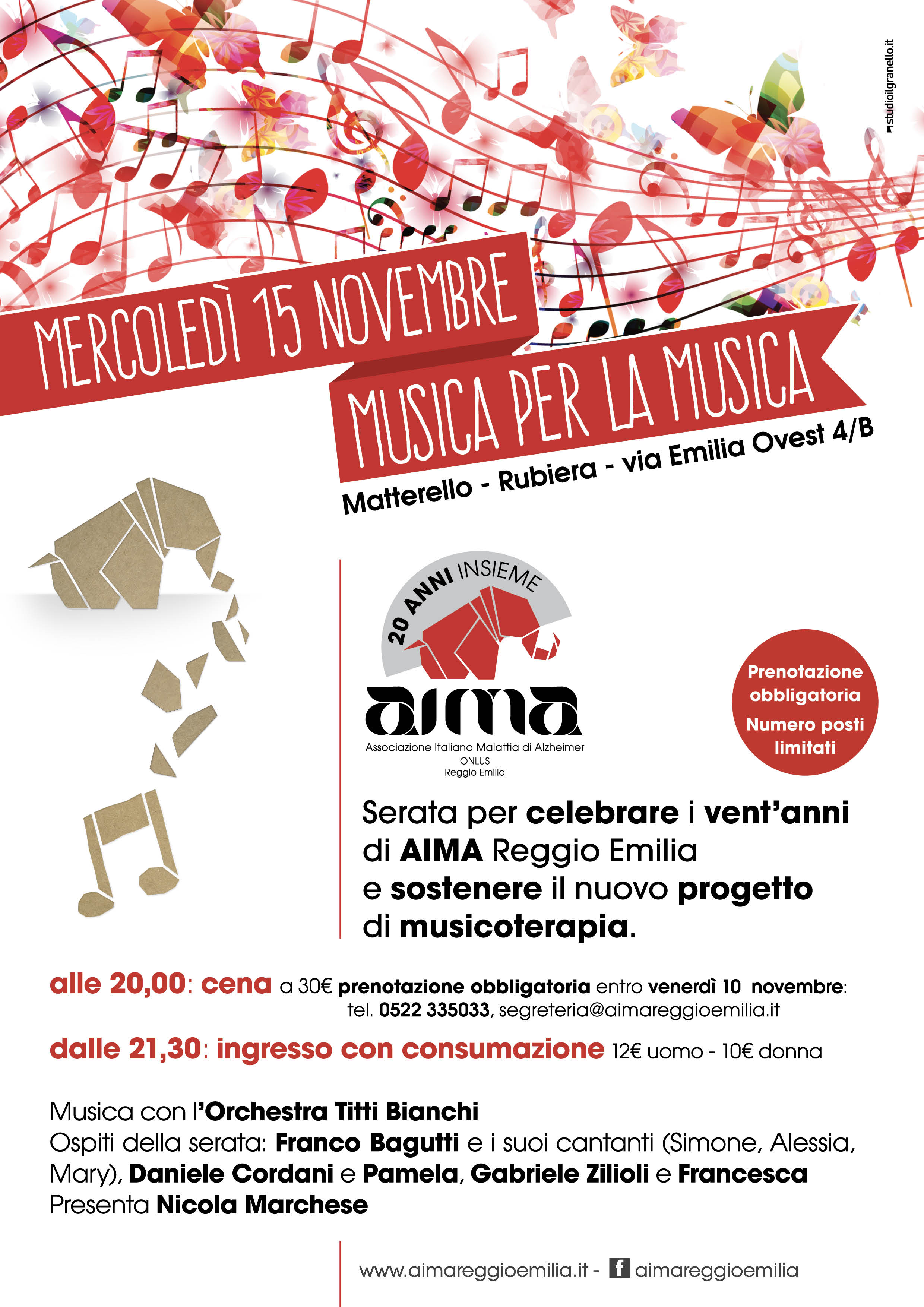 Calendario Titti Bianchi.Musica Per La Musicoterapia Per I 20 Anni Di Aima Al Matterello