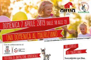 particolare locandina manifestazione Una Domenica al Mauriziano con AIMA Alzheimer Reggio Emilia