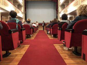 rassegna cinematografica alzheimer 2018 Genitori e Figli: saluti della Sindaco Verona al Teatro di Guastalla