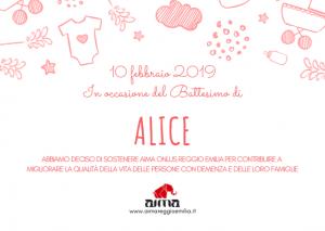 modello pergamena solidale per Battesimo - AIMA Onlus Reggio Emilia