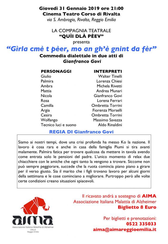 locandina commedia dialettale pro AIMA