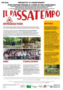 Poster Il PassaTempo 29 Alzheimer Europe Conference Den Haag