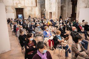 Il pubblico del concerto a Guastalla dell'Ensable Harmonia Ludens nell'ex-Chiesa di San Francesco