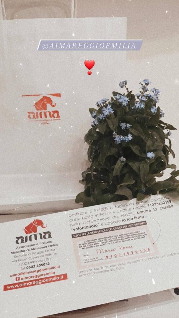 Piantine nontiscordardimé AIMA Reggio Emilia