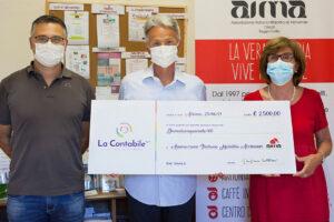 Donazione di La Contabile Spa ad AIMA Reggio Emilia ODV 2021
