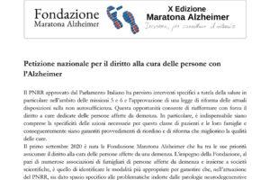 Dettaglio petizione nazionale demenze